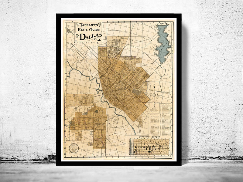 Old Dallas Map.Old Map Of Dallas 1922 Texas Old Maps And Vintage Prints