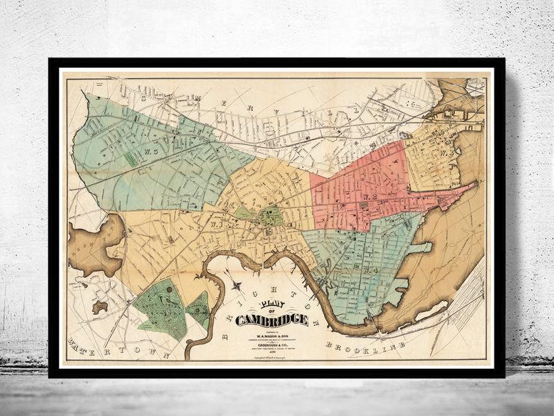 Old Map of Cambridge, Machusetts 1878 Cambridge Ma Map on cambridge ia map, cambridge md map, cambridge mn map, cambridge wi map, cambridge ny map, cambridge oh map, somerville cambridge boston map, cambridge id map, cambridge london map, cambridge nz map, charlotte nc map, cambridge il map, boston massachusetts city map, cambridge england map,