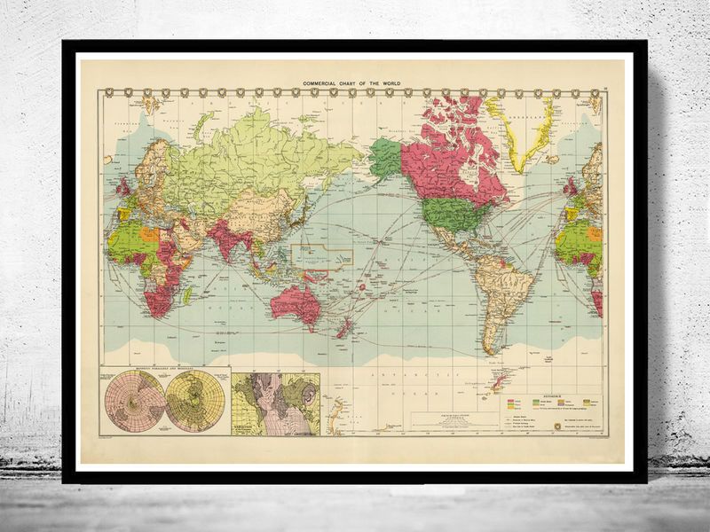 Old World Map In 1922 Old Maps And Vintage Prints