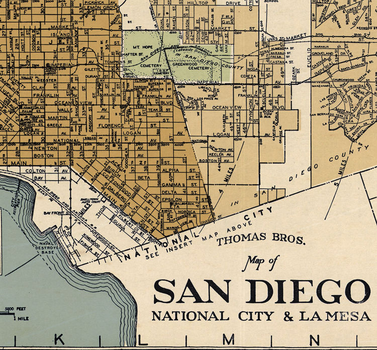 Old Map San Diego California 1920 Old Maps And Vintage Prints