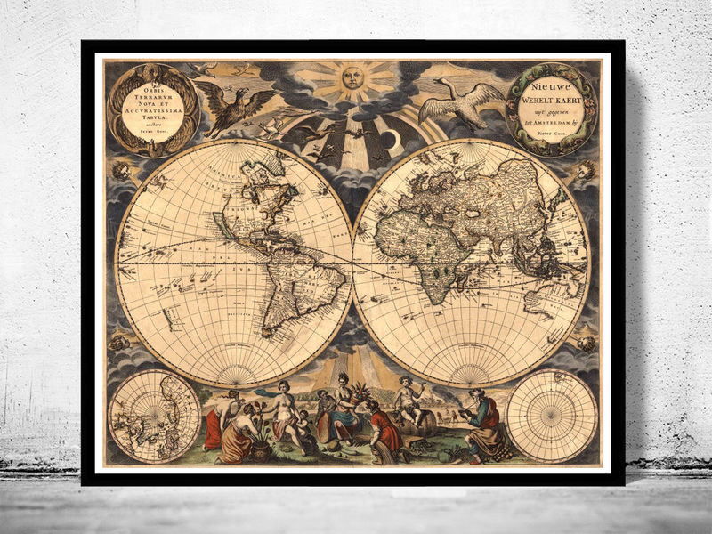 Old World Map Antique 1666 Old Maps And Vintage Prints