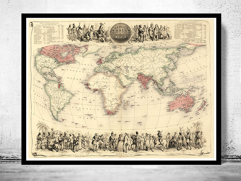 Old World Map Antique Atlas 1850 Old Maps And Vintage Prints