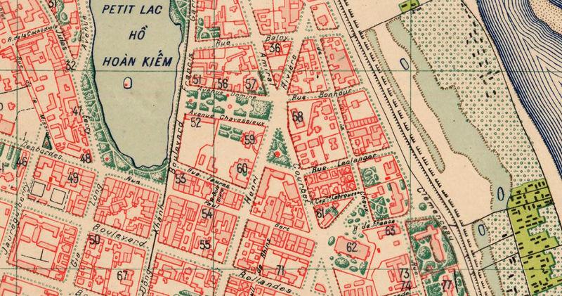 Map Ha Noi.Old Map Of Hanoi Vietnam 1929