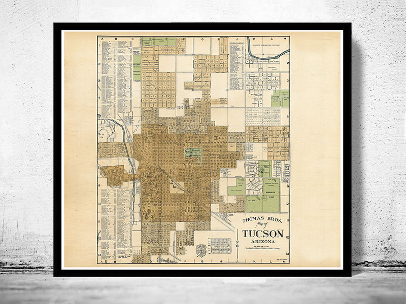 Old map of Tucson Arizona City Of Tucson Maps on city of bisbee map, city of goodyear map, city of cheyenne map, city of wichita map, city of mesa map, city of indianapolis map, tucson city map street map, tucson city bus map, town of paradise valley map, university of tucson map, city of surprise map, new river az city limits map, arizona map, city of prescott map, city of benson map, city of flagstaff map, city of peoria map,