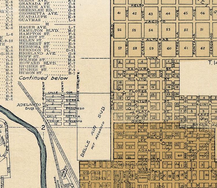 Map Of Old Arizona.Old Map Of Tucson Arizona