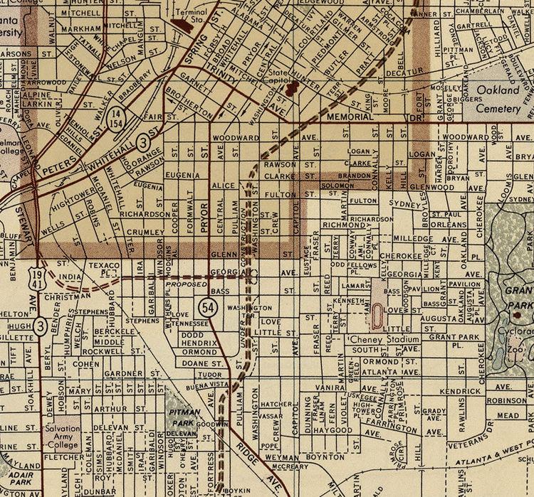 Map Of Old Georgia.Old Map Of Atlanta Ga