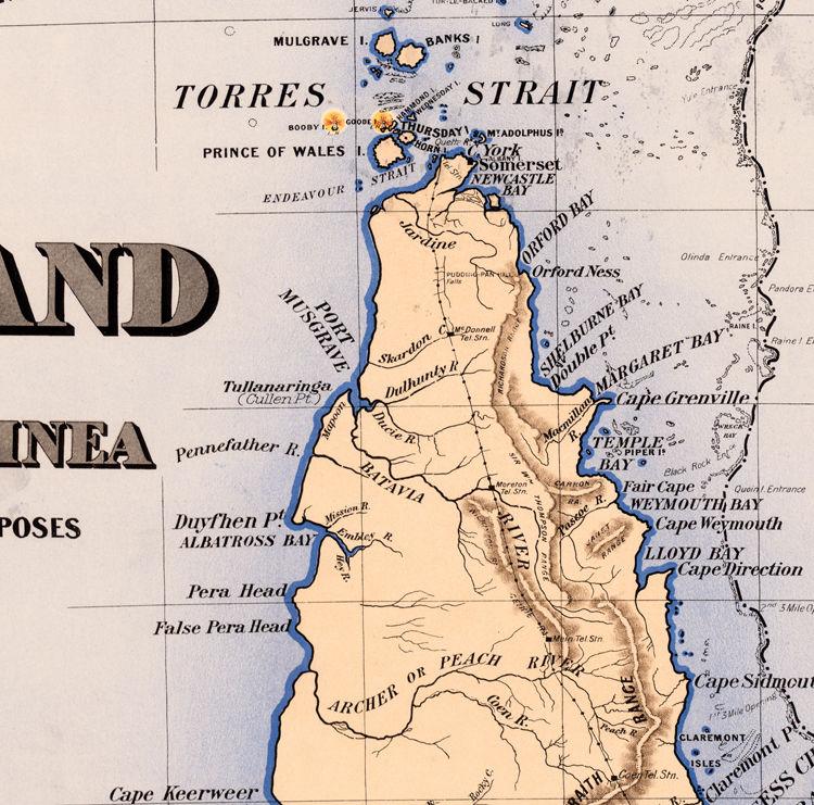 Map Of Queensland Australia.Old Map Of Queensland Australia 1896