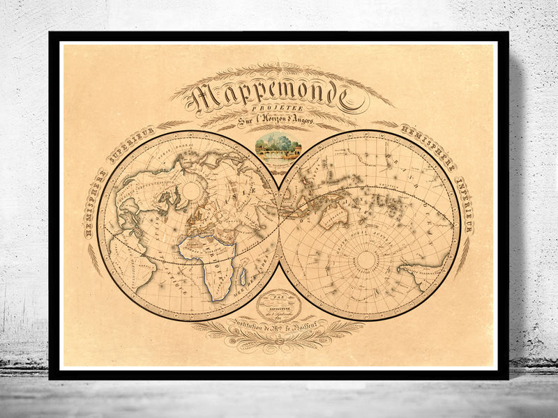 Old World Map Antique 1839 Old Maps And Vintage Prints