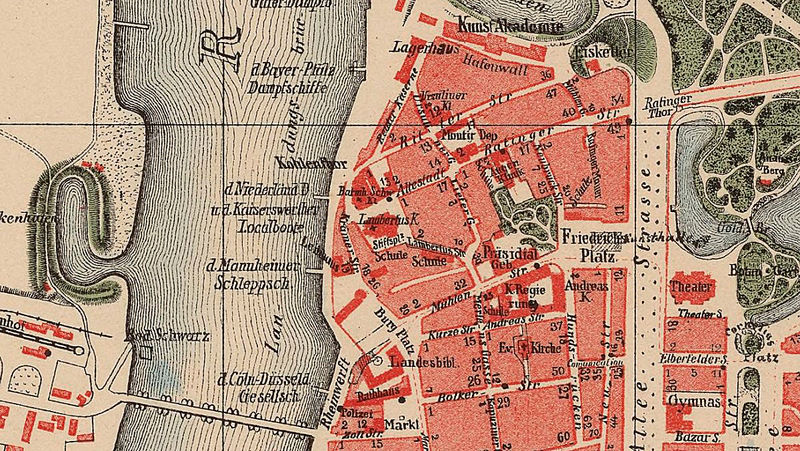 Map Of Old Germany.Old Map Of Dusseldorf Germany 1877 Old Maps And Vintage Prints