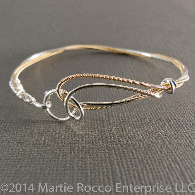Sterling Silver Guitar String Bracelet With Phosphorous Bronze Product Images