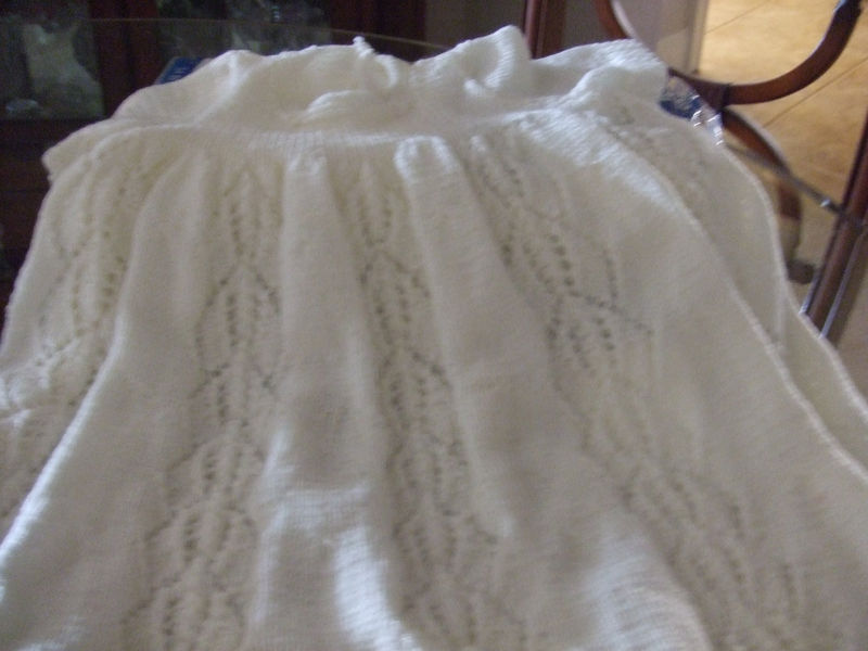 0701e30d0 Pattern for Traditional Hand Knit Christening Gown - Pretty Lady Knits