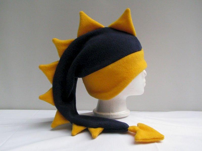 5f8d702dd6c Dragon Hat Fleece - Navy Blue   Yellow Gold - Ningen Headwear