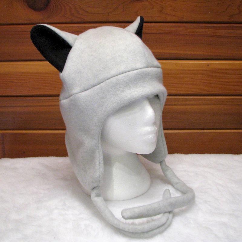 5d600bceb Gray Wolf - Silver/Grey Ear Fleece Aviator Ear Flap Hat