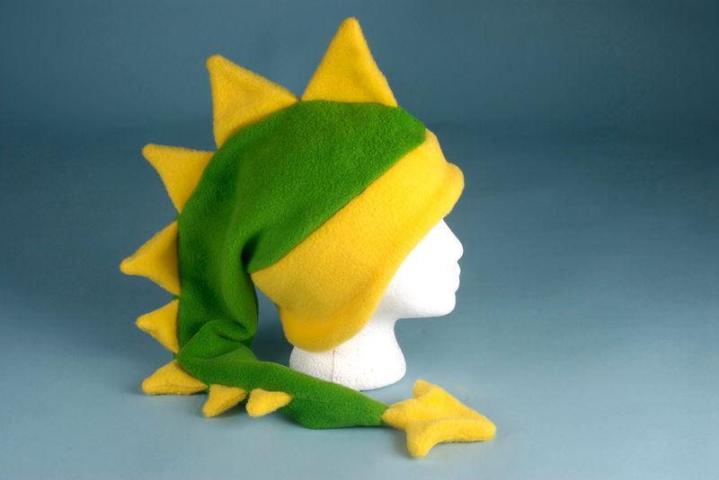 cfe10ffa7ca Fleece Dragon Hat - Lime Green   Yellow - Ningen Headwear