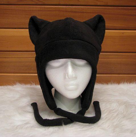 291fdb15 Silver Cat Ear Hat Mens Womens Kitty Cat Beanie - Ningen Headwear
