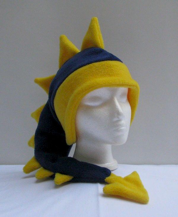 c6c62bba4c8 Fleece Dragon Hat - Denim Blue   Yellow - Ningen Headwear