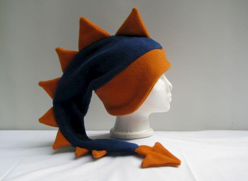 879791aeb70 Dragon Hat - Denim Blue   Orange Fleece - Ningen Headwear