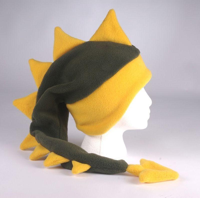 a2ca4ad0d7c Fleece Dragon Hat - Dark Green   Yellow Gold - Ningen Headwear