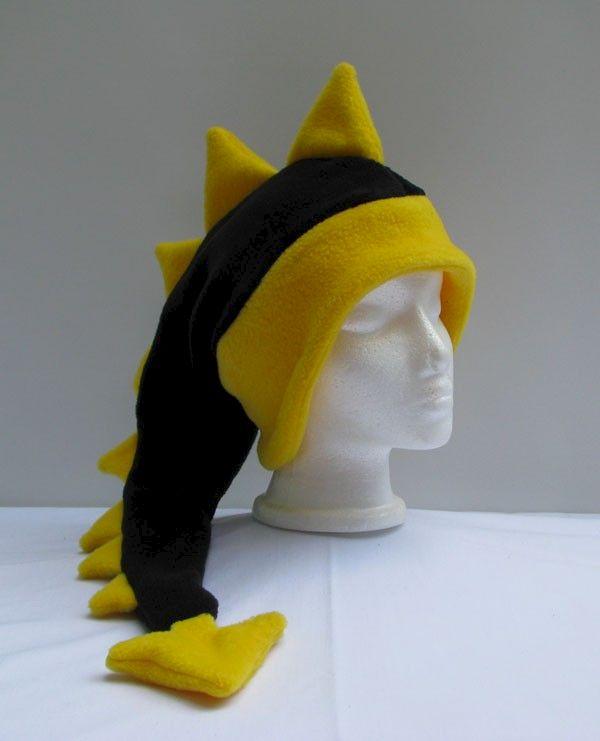 489071d29c7 Fleece Dragon Hat - Black   Yellow - Ningen Headwear