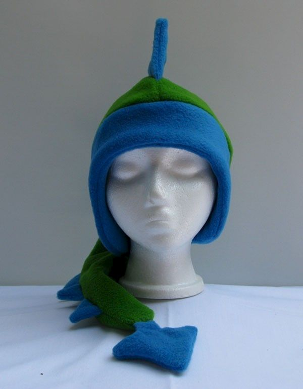 f950f150758 Fleece Dragon Hat - Royal Blue   Lime Green - Ningen Headwear