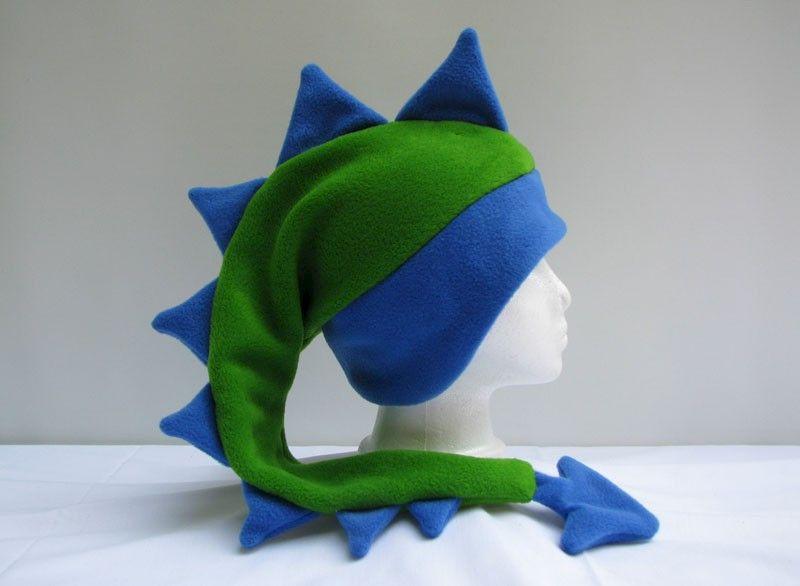 3743ec87020 Lime Green   Royal Blue Dragon Hat - Ningen Headwear