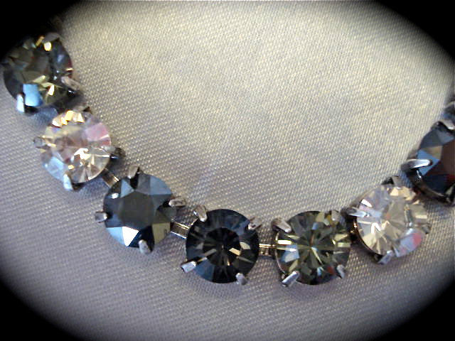 Swarovski Black Diamond Cut Bridesmaid Tennis Bracelet