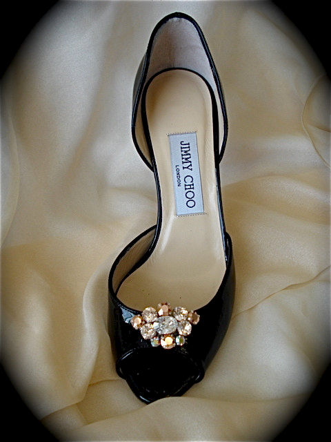Rose Gold Champagne Shoe Clips The Crystal Rose Bridal
