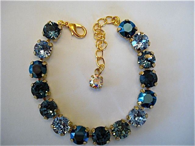 Midnight Blue Bridesmaid Tennis Bracelet Swarovski