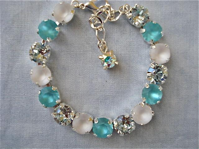 Swarovski Crystal Tiffany Blue Bridesmaid Tennis Bracelet 6fe457e9ab