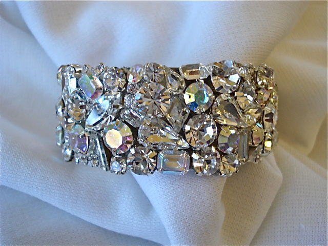 Swarovski Crystal Bridal Cuff Bracelet 1