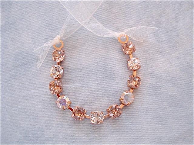 Rose Gold Blush Crystal Flower Girl Bracelet The Crystal