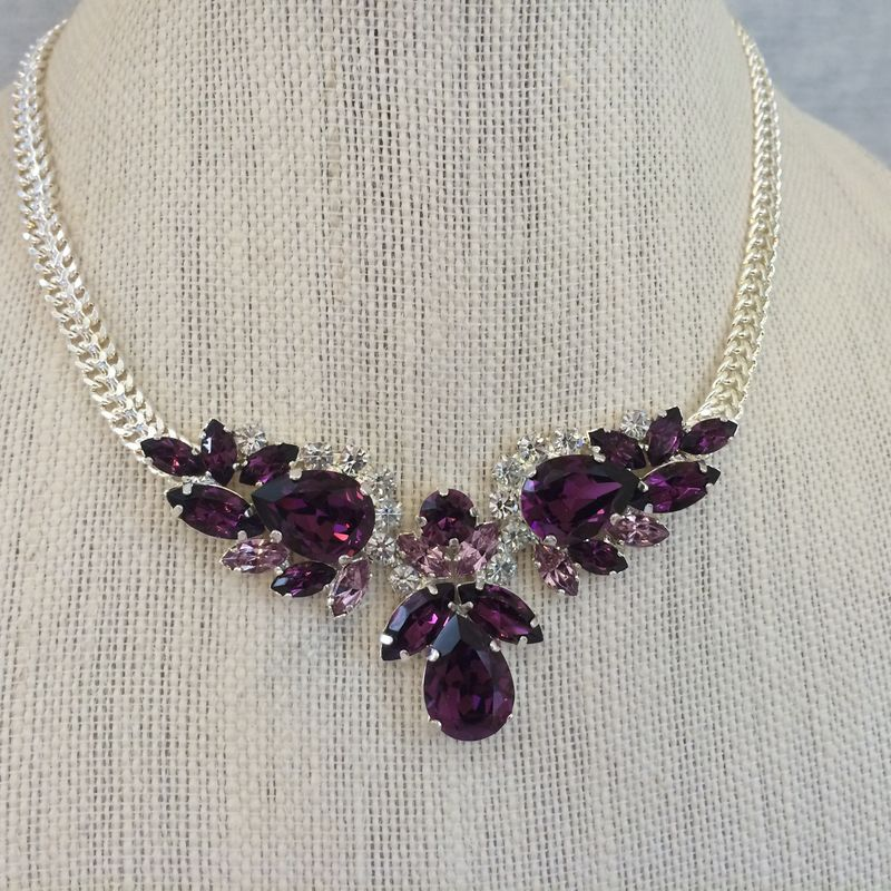 Swarovski Amethyst Pendant Necklace The Crystal Rose