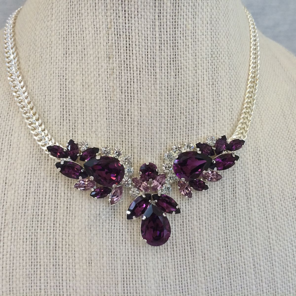 amethyst crystal necklace - photo #39