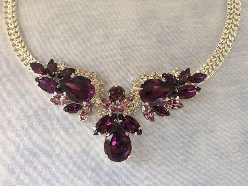 Swarovski Amethyst Pendant Necklace The Crystal Rose