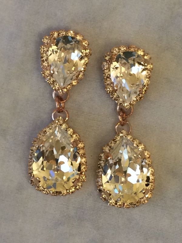 Crystal Bridal Statement Earrings Collection The Crystal