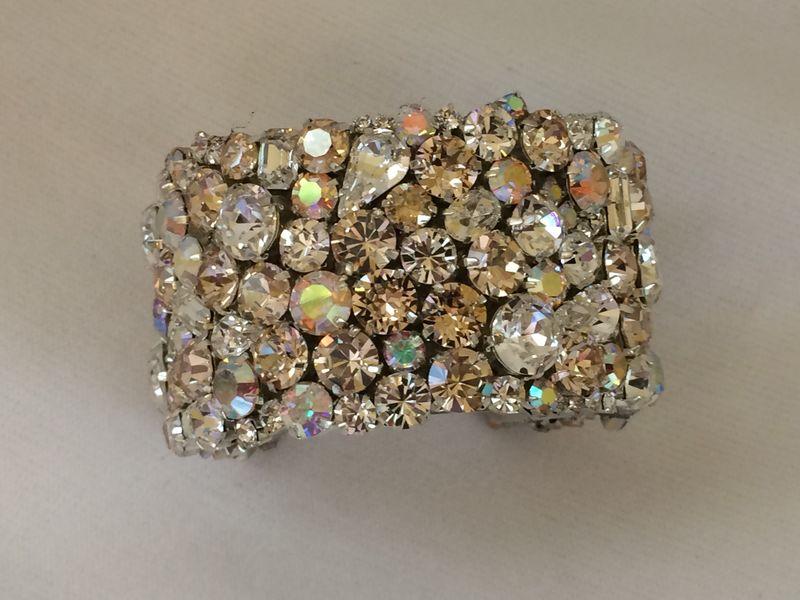 Champagne Swarovski Crystal Wedding statement Bracelet - product images of ae3c19811d