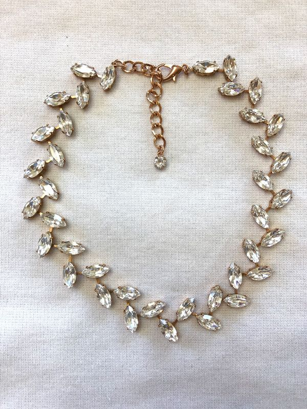 Crystal Wreath Necklace Wedding Necklace The Crystal Rose Bridal