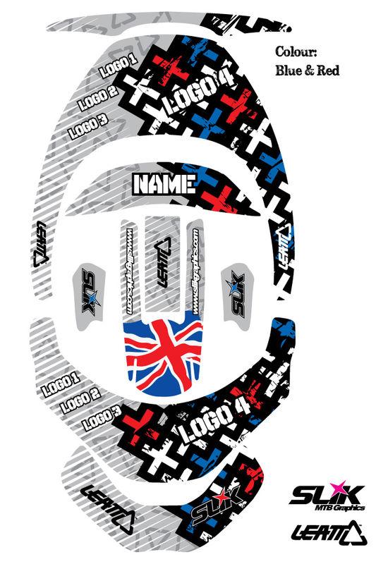 Leatt Brace Sticker Kit Crosses Slik Graphics