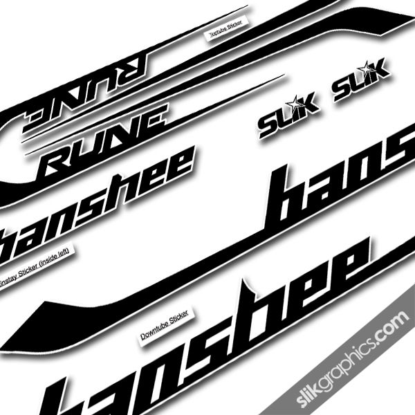 Banshee rune 2013 style decal kit product images of