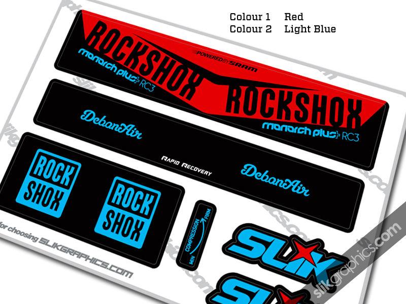 2016 Rockshox Monarch Plus Rc3 Debonair Style Decal Slik