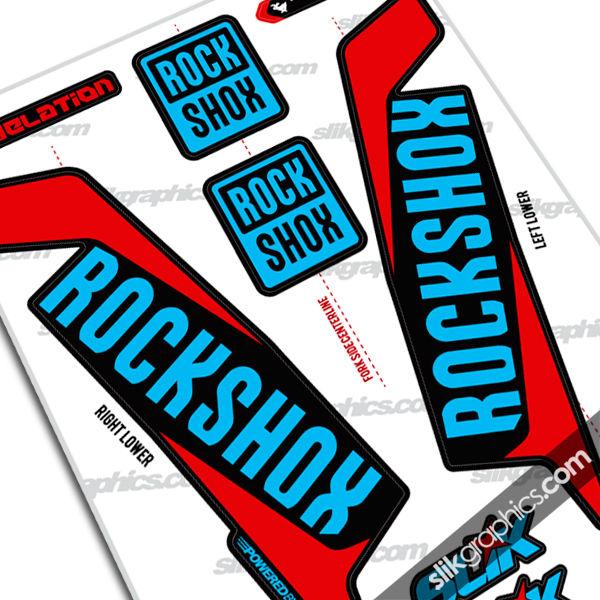 Fork Decals - Rockshox Collection - Slik Graphics