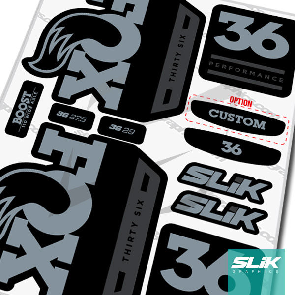 Fox 36 2018 Performance Series Style Decal Kit - Black Forks