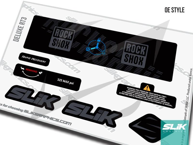 RockShox Deluxe RT3 Decal Kit