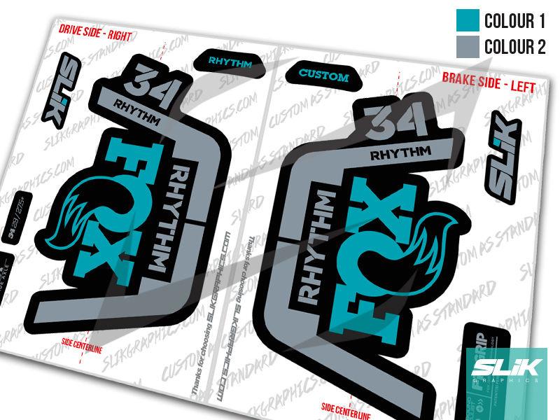 Fox 34 Rhythm 2019 Style Decal Kit Slik Graphics