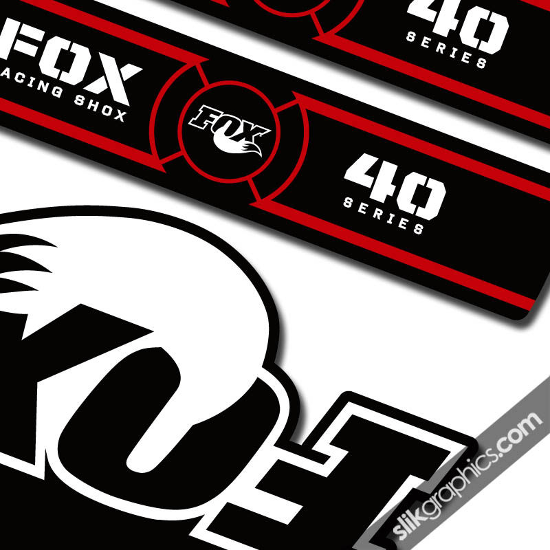Fox 40 Oe Style Decal Kit Black Forks Slik Graphics