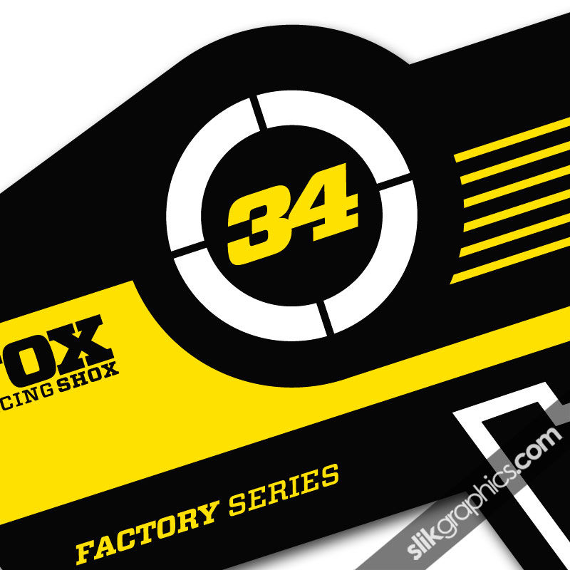 Fox 34 factory style decal kit black forks product images of