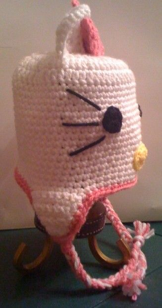Crocheted Hello Kitty Hat With Earflaps Boots Boutique
