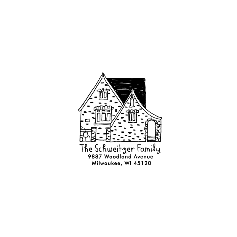 House Portrait Rubber Stamp The Small Object