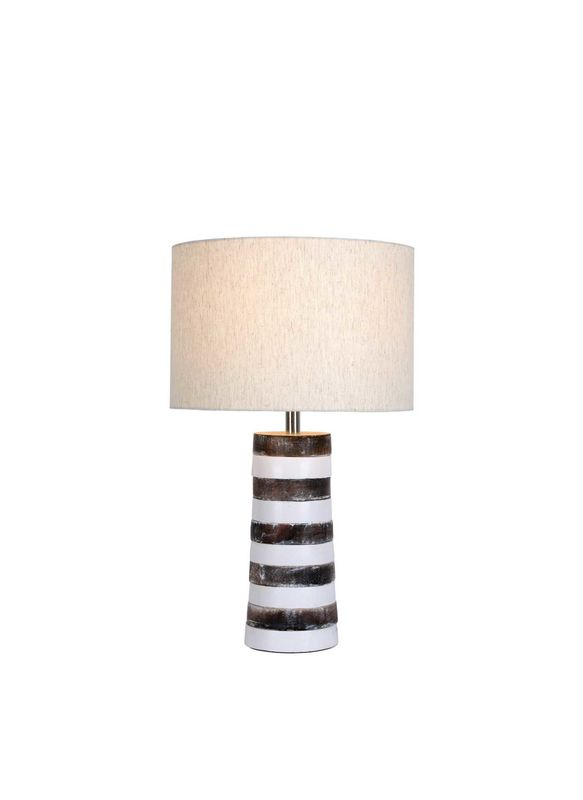 Whitewashed Wood Table Lamp Redvers