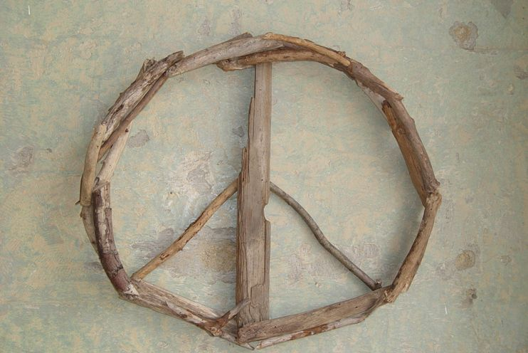 Driftwood Peace Sign Door Decor Wreath Wall Art - product images of & Driftwood Peace Sign Door Decor Wreath Wall Art - Sea + Green